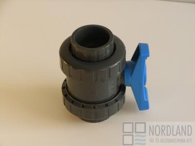 Gömbcsap d50DN40 PN16 ragasztható tokkal, radiálisan kiszerelhető
