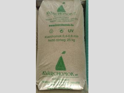 Szűrőhomok finom (0,4-0,8 mm, 25kg)