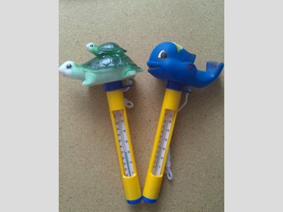 Hőmérő, állatfigurás hal/kacsa/teknős